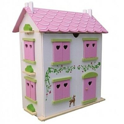 Candy Cottage  Dolls House Wooden Kit Incl Furniture, Wooden,1;12 Decorated