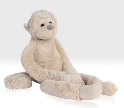Large Cuddly Monkey Soft Toy with Velcro Hands by Beehive Toys