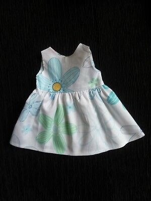 Baby clothes GIRL premature/tiny<3-4lbs/1.35-1.8kg pink/aqua/white floral dress