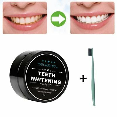 Teeth Whitening Powder Natural Organic Activated Charcoal Bamboo Toothpaste Powd