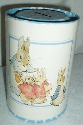 RARE Vintage 1989 Beatrix Potter Peter Rabbit Made in England Coin Bank