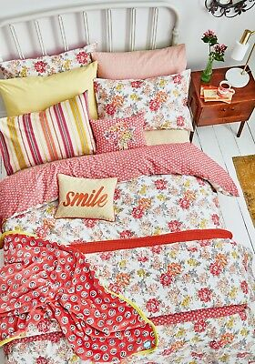 Helena Springfield FAY Coral Pink Floral Duvet Cover Set, Curtains,Cushion/Throw