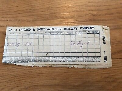 Chicago Railroad Document Ticket from 1889 Rare