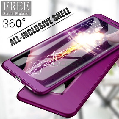 For Samsung Galaxy S10 S9 S8 S7 360°Shockproof Slim Case Cover Screen Protector