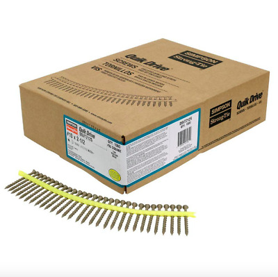 Simpson Strong Tie Decking Deck Collated Screwgun Screws 1000 Pack #10 2.5 inch