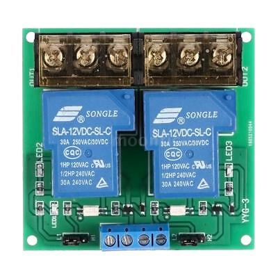 2 canaux Conseil Module DC 12V 30A Relais Optocoupler Isolation High / Low A5Y9