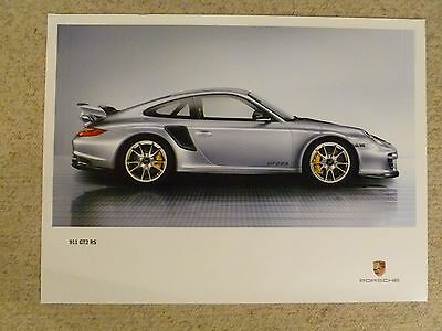 2010 Porsche 911 GT2 RS Coupe Showroom Advertising Sales Poster RARE!! Awesome