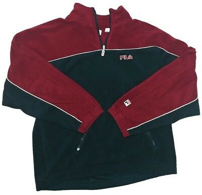 4f34899bafee Vintage FILA Mens Quarter 1/4 Zip Pullover Fleece Jacket XXL 2XL 90s Vtg