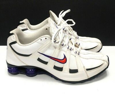 cb264a959a0 Nike Shox Turbo SL Mens Sneakers Shoes Sz 10 White Orange Purple 525248-185  GUC