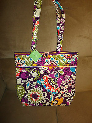Vera Bradley Plum Crazy Tote Purse--new with tags-$49 retail #10449-137