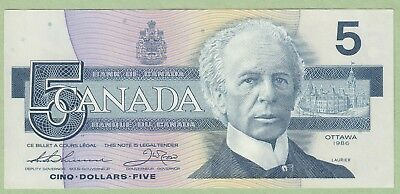 1986 Bank of Canada 5 Dollar Note - Thiessen/Crow - FPE5281848 - UNC