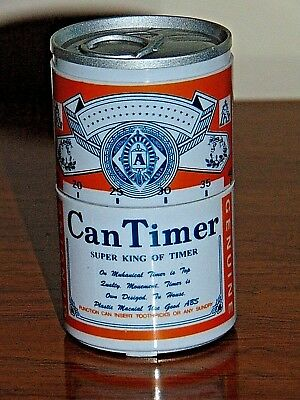 "Working Beer Can Kitchen One Hour Timer 4"" Tall Very Hard To Find"