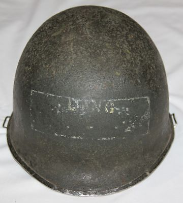 Original Wwii Front Seam, Swivel Loop M1 Helmet For Restoration