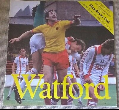 Watford v Manchester United - FA Cup 3rd Round 1981/82 Season