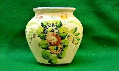 """Vanro Italy Vintage Signed  Hand Painted Small Vase 4.5""""  1950's"""