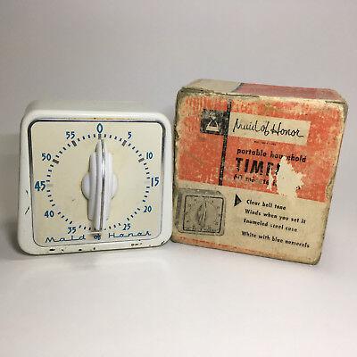 Vintage Maid of Honor 60 Minute Kitchen TIMER #4659 in Box Sears USA