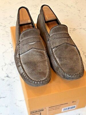 0bfb554f075 460 tods driving loafer gray suede leather gommini mens 9 5 uk 10 5 us shoes
