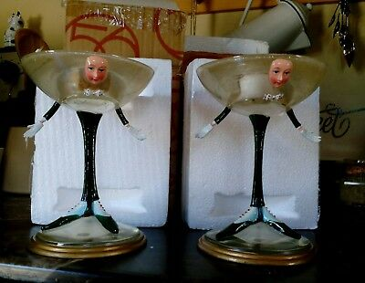 2  RARE Krinkles MARTINI Glass VOTIVE CANDLE with Box  Patience Brewster Retired