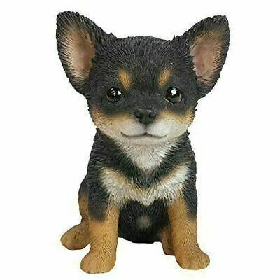 """Sitting Chihuahua Puppy Collectible Figurine 6.5""""H Loving Pet Collection"""