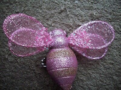 Clip On - Ornament - Beautiful Clip-On Pink Bumble Bee