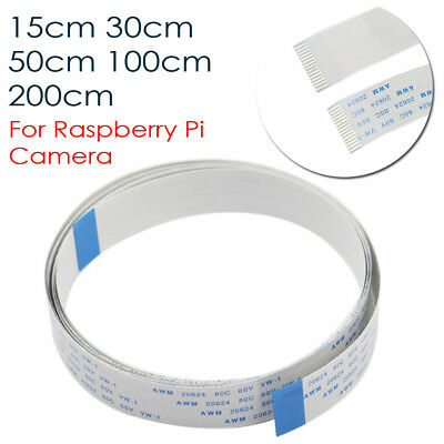 15cm to 2M 15 pin 1.0mm Long Flat Ribbon Cable For Raspberry Pi Camera Module