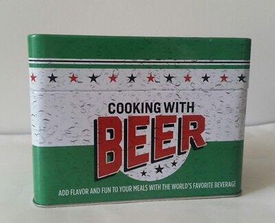 Cooking With Beer Recipe Card Collection & Collectible Tin W/99 Recipes