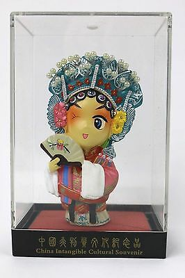 China Intangible Cultural Souvenir Doll Figure In Case Chinese Asian Statue HTF