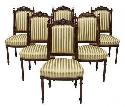 Antique Louis XVI Side Dining Chairs | Late 1800s | Set of 4