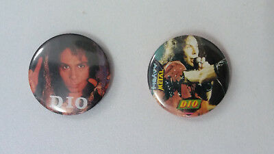 Dio Ronnie James heavy metal band music buttons vintage SMALL BUTTON set 2