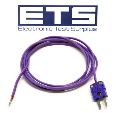 Type E Mini Thermocouple Plug w/ 5' Wire Lead
