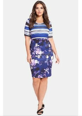 b64d9c3e818 ELOQUII MIXED PRINT Sheath Dress (Plus Size) (Size 20) -  34.99 ...