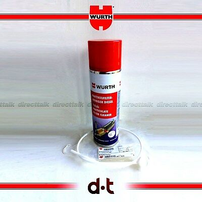 WURTH DIESEL PARTICULAR FILTER  CLEANER 400ml CAN & SPRAY HOSE DPF FAST DELIVERY