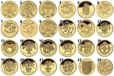Cheapest £1 Coins Round One Pound Edinburgh Cardiff London Floral Royal Arms