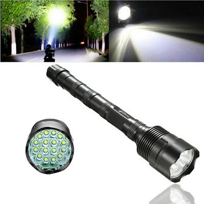 80000LM Police Tactical 5 Modes Light 16x T6 LED Flashlight Torch Lamp Fit 18650