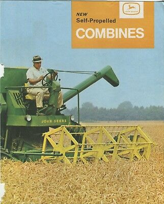 John Deere New Self-Propelled Combines sales sheet with minor damage to edge