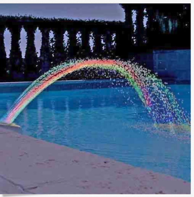 Colorful Pool Accessory Lights Show Waterfall Fountain Above Ground w/LED Light