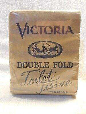 Vintage 1920's/30's Victoria Double Fold Toilet Paper Toilet Tissue Roll Unused
