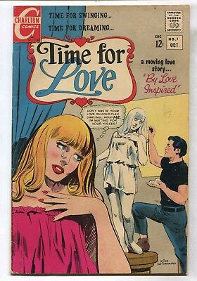 "Charlton Comic Book Romance ""Time for Love"" 1967 No. 1 October"