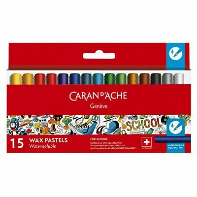 Caran d'Ache Water Soluble Wax Pastels 15 Pack