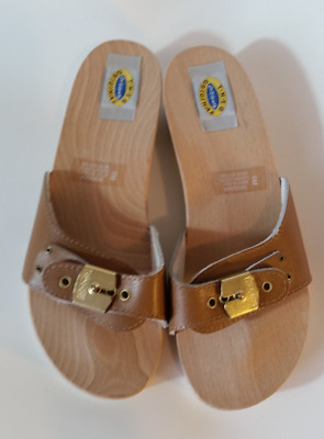 Women's the Original Dr Scholls Sz 6 Sandals Light Brown shoes - vintage
