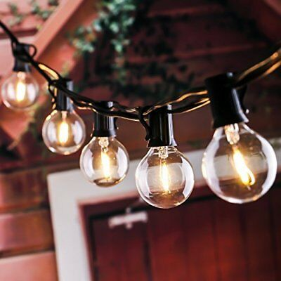 UL Outdoor String Light with Dimmable G40 Bulbs Patio Garden Backyard Lawn Party