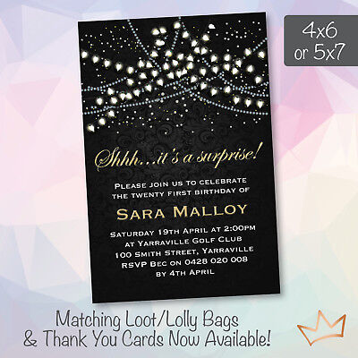 Personalised Surprise 18th 21st 30th 40th 50th Birthday Invitation Party Invites