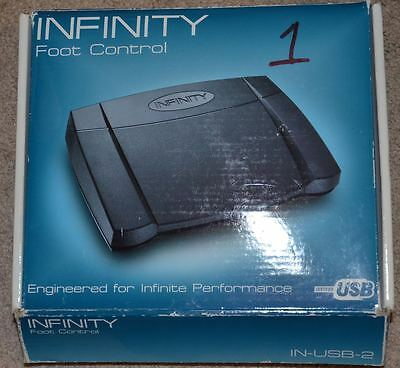 Infinity USB foot control USB IN-USB-2 pedal transcription