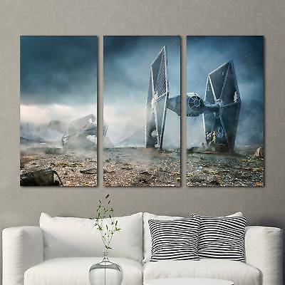 TIE Fighter Star Wars 3PCS HD Canvas Print Home Decor Room Wall Art Picture 2092
