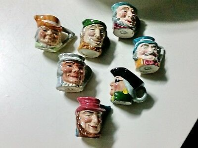 Character/Toby jugs small/England x 7