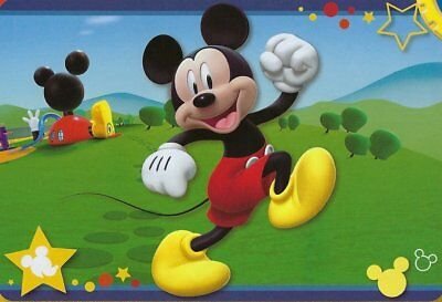 Licensed Disney Mickey Mouse Playhouse Large Non Slip Back Area Rug Carpet