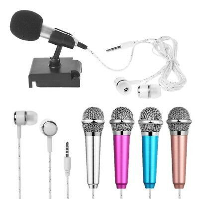 Mini Condenser Microphone 3.5mm For Mobile Phone PC Laptop Chatting Singing X3
