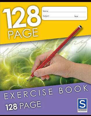 GNS Exercise Book 225x175mm 8mm Ruled 128 Page