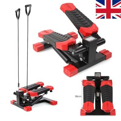 Mini Exercise Stepper Aerobic Fitness Pedal Workout Elastic Band Cord for Arm UK