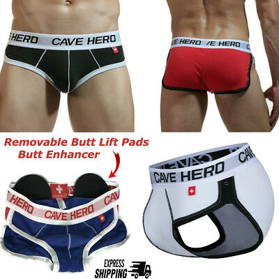 Mens Butt Booster Underwear Padded Butt Enhancer Butt Lift Shaper Push Up Brief